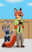 Zootopia - Nick and Judy by StealthCat15