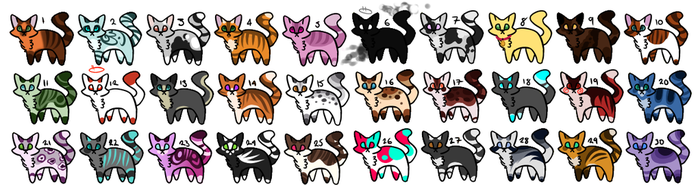 Cat Adoptable [ OPEN ] 1-5 points. by Cute-Adopt01