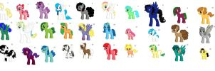 free mlp adoption all girls batch 1 *CLOSED* by otterpop01