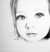 Portrait of Little Girl by IleanaHunter