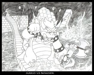 Mario VS Bowser by MobianMonster