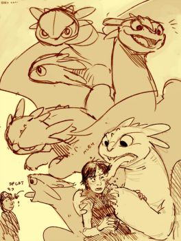 Toothless sketchins by Barukurii