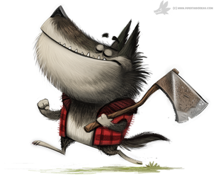 Daily Painting #800. Werewolf Lumberjack by Cryptid-Creations
