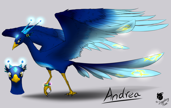 Andrea the Ice Pheonix by Dragonsfriend90