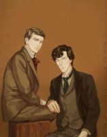 Sherlock + John by beautiful-burnout