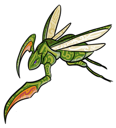 TPP Red 151 Diploma Collab: Scyther by WhoaConstrictor