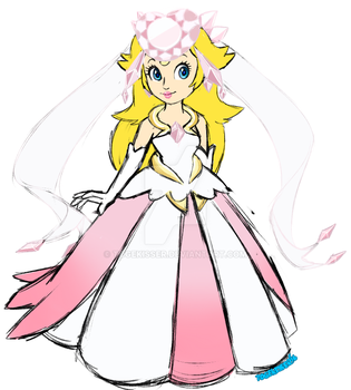 Diancie Inspired Princess Peach outfit by Togekisser