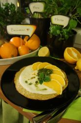 Omelet with orange and lemon bald by yeanling
