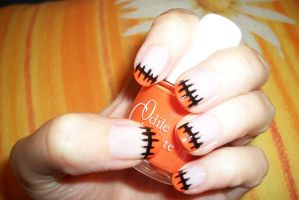 halloween nail art by butterfly1980