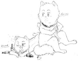 SatW Cats: Norway and Denmark by nightwindwolf95