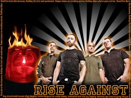 Rise Against Wallpaper by angryannoyance