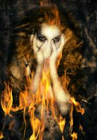 Haunted Mind In Flames by KnightFlyte96