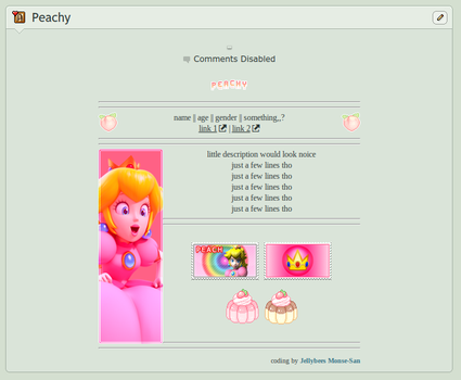 f2u Peach page code by Jellybees