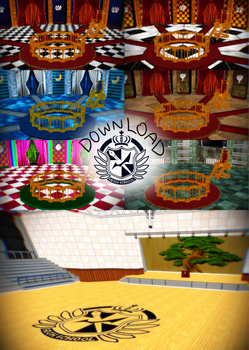 :Watchers Gift: MMD Danganronpa Courtrooms and Gym by Oneirio
