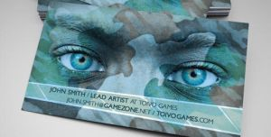 Make Art Not War Business Card by martinemes