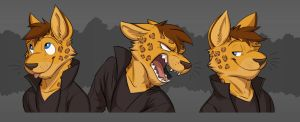 Commission: Claws' Expression Sheet by Temiree
