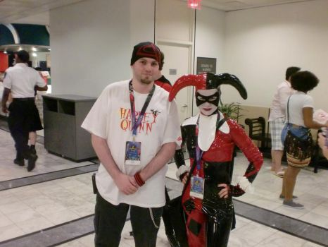 Myself and a Harley Quinn at DC 2011 by HarlequinHenchman