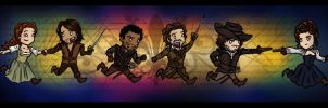 BBC The Musketeers by blackbirdrose