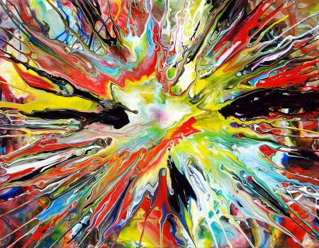 Spin Painting 31 by Mark-Chadwick