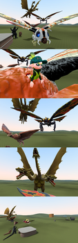 The Great Flying Monster Race! by 123emilymason