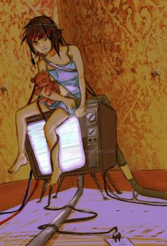 Lain through the Looking Glass by achimico
