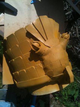 Dredd Shoulder Eagle - primed to highlight flaws by dicewarrior