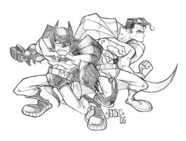 Superman and Batman by dmeaves