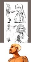 Character Sketches by lokelani