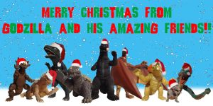 Godzilla and his Amazing Friends Xmas Piece - 2014 by BigJohnnyCool