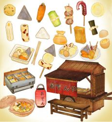 Japanese Oden Food MMD MODEL DL by Hack-Girl