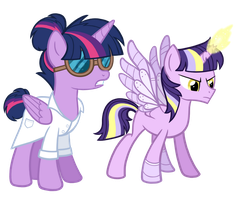 Evil Scientist Twilight and OC by TheCheeseburger