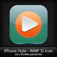 WMP 12 iPhone style icon by masterddd