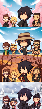 FFXV Seasons by Sealkittyy