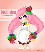 :GIFT: Orchidea the Seedrian by Melissa-B-chan