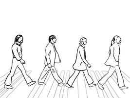 Beatles crossing by petelea