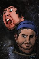 Jontron and H3H3 FANART  by fevercalub