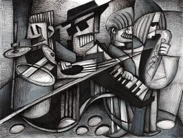 Imaginary Still-life No.3, with Four Piece Band by grr9
