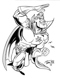 Captain Dynamo commission_INKS by tombancroft