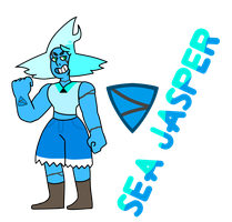 Sea Jasper (Gemsona Redesign) by sodoww