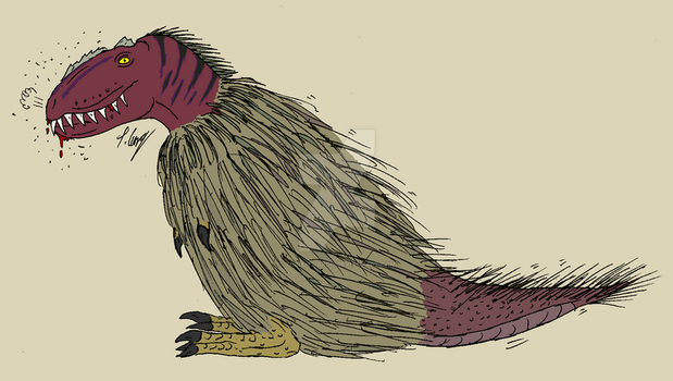#BuildABetterFakeTheropod - Shaggy Theropod by The-Episiarch