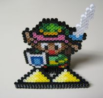 Perler Link - Triforce by Dlugo1975