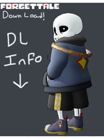 (DL DOWN) Forget!Tale Sans MMD model +dl by SuperBecky