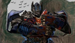 Optimus Prime Transformers + Speed Paint by QueenMG