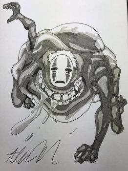 [Inktober 2017 Day 31] No Face by SkyTheVirus