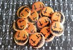 Pumpkin Cross Smiley Button by JakProjects