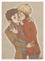 Merlin and Arthur by rethe