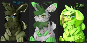 Fluffy Bunny Adopts (Set Price) 2/3 OPEN by Hallu-cinate