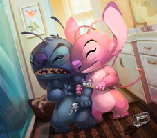 Stitch and Dental Hygiene by Benschachar