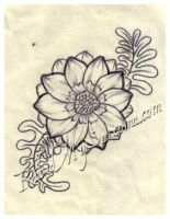 flower line drawing by jacksonmstattoo