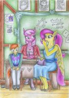 To School with Parents by Sinaherib
